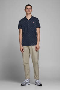 JACK & JONES CORE regular fit polo met stippen donkerblauw, Donkerblauw