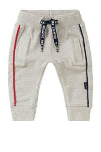 Noppies baby regular fit broek Etwatwa met biologisch katoen grijs melange/rood/donkerblauw, Grijs melange/rood/donkerblauw