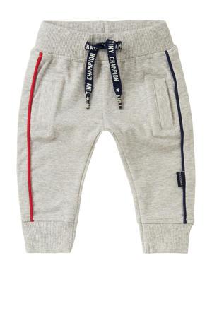 baby regular fit broek Etwatwa met biologisch katoen grijs melange/rood/donkerblauw