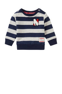 Noppies baby gestreepte sweater Froglogg donkerblauw/wit, Donkerblauw/wit
