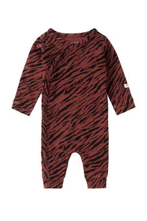 baby boxpak Mantua met zebraprint roodbruin/zwart