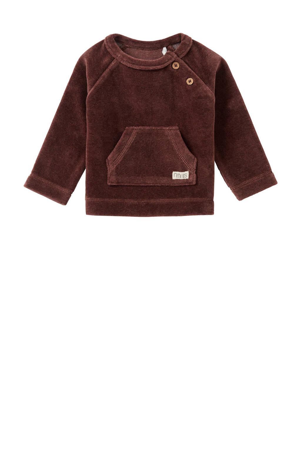 Noppies baby sweater Clocolan bruin, Bruin