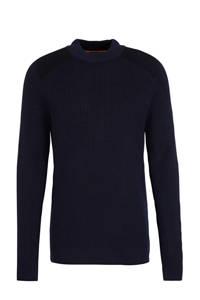 BOSS Casual fijngebreide trui donkerblauw, Donkerblauw