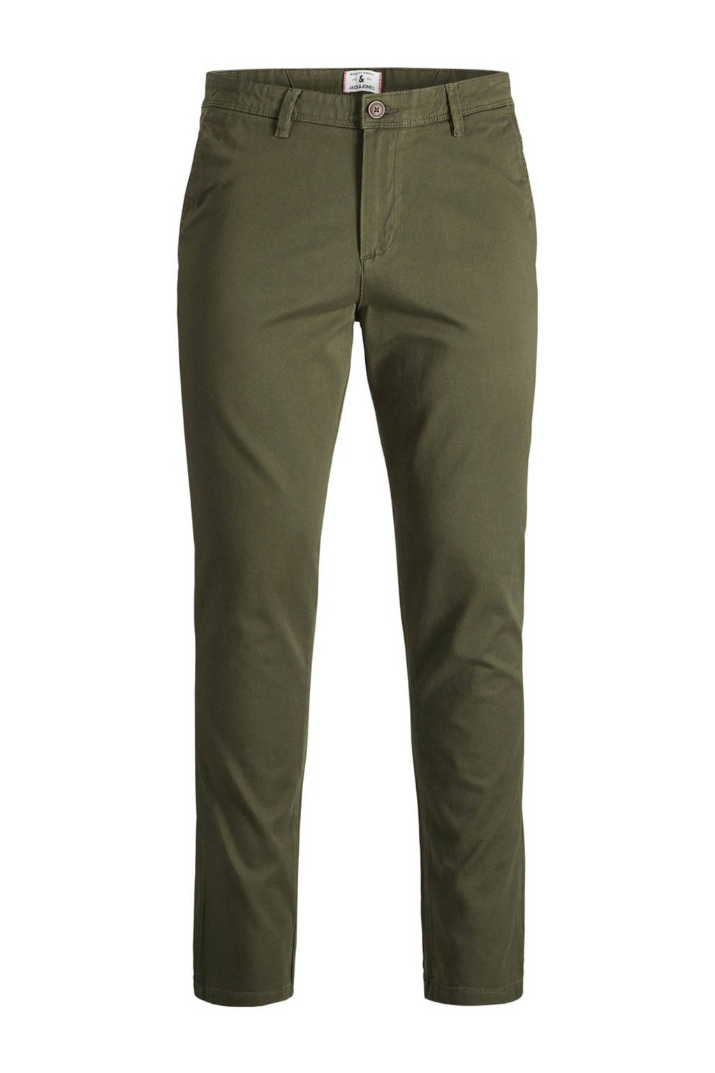 JACK & JONES JEANS INTELLIGENCE slim fit chino Marco legergroen, Legergroen