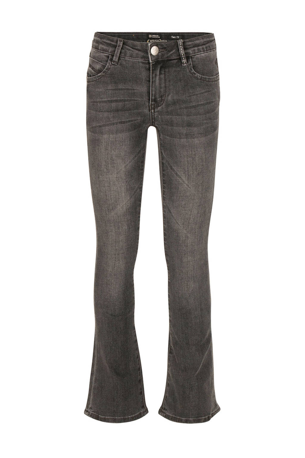 Indian Blue Jeans flared jeans Lola donkergrijs, Donkergrijs