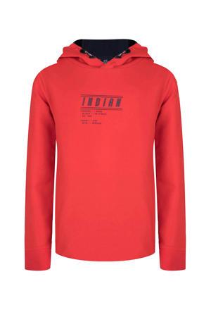 hoodie met tekst rood
