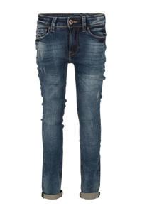 Indian Blue Jeans skinny jeans Ryan met slijtage used dark denim