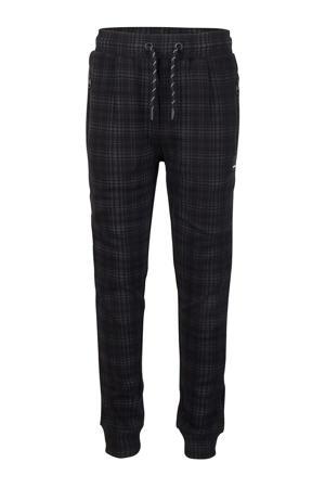 geruite skinny broek zwart/grijs
