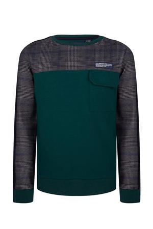 sweater donkergroen/donkerblauw