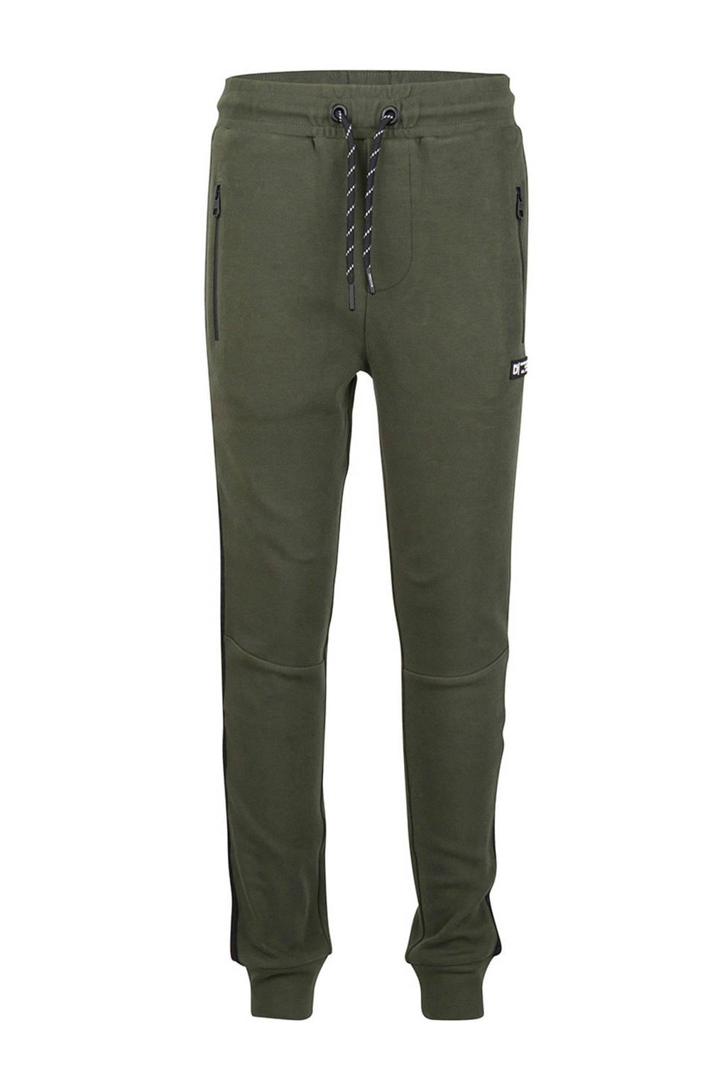 Indian Blue Jeans skinny broek met zijstreep army groen, Army groen
