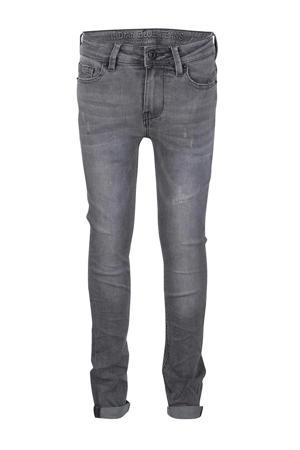 skinny jeans Ryan met slijtage grijs