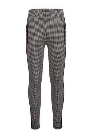 skinny broek met zijstreep zwart/wit