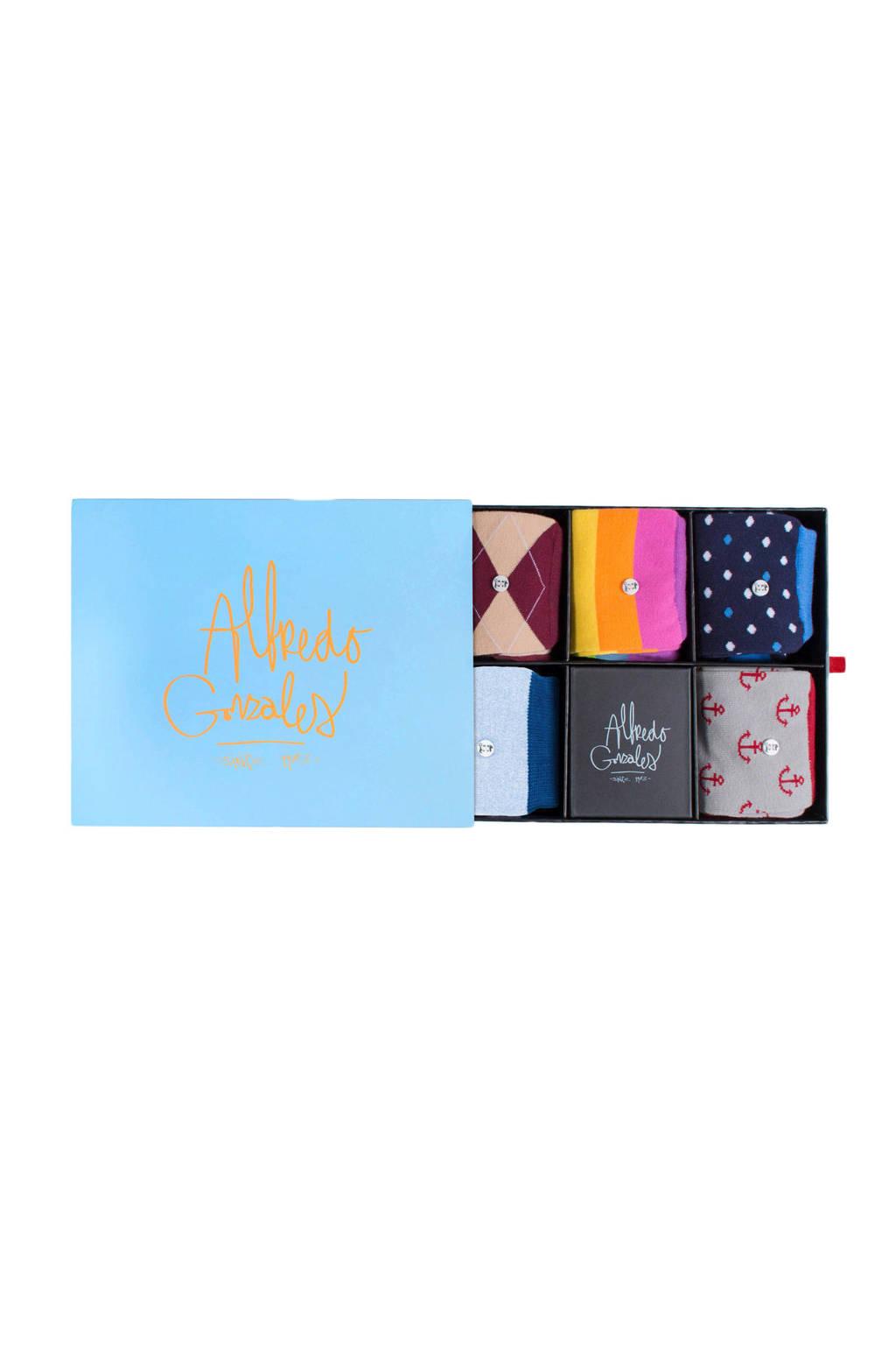 Alfredo Gonzales giftbox sokken Freedom set van 5 paar, Multi