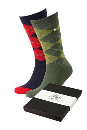 giftbox sokken Wallstreet - set van 2 multi