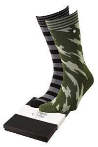 Alfredo Gonzales giftbox sokken Shredded & Offset - set van 2 multi, Groen/blauw