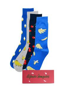 Alfredo Gonzales giftbox sokken - set van 3 foodprint, Blauw