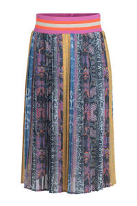 Jill & Mitch by Shoeby plissé rok Carsie met all over print multicolor, Multicolor