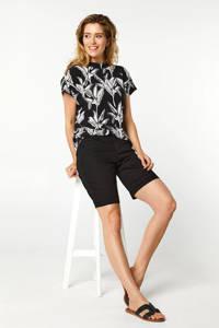 Miss Etam Regulier T-shirt met all over print zwart, Zwart