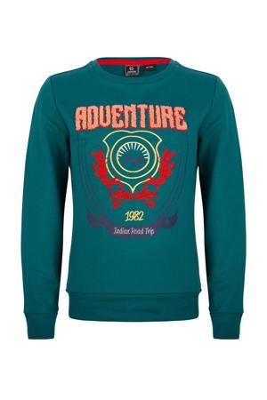 sweater met printopdruk zeegroen