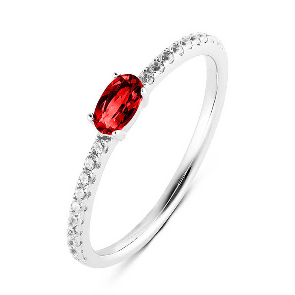 Parte di Me ring PDM11133028 zilver/rood, Zilver/Rood