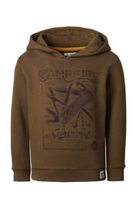 Noppies hoodie Taung met printopdruk bruin, Bruin