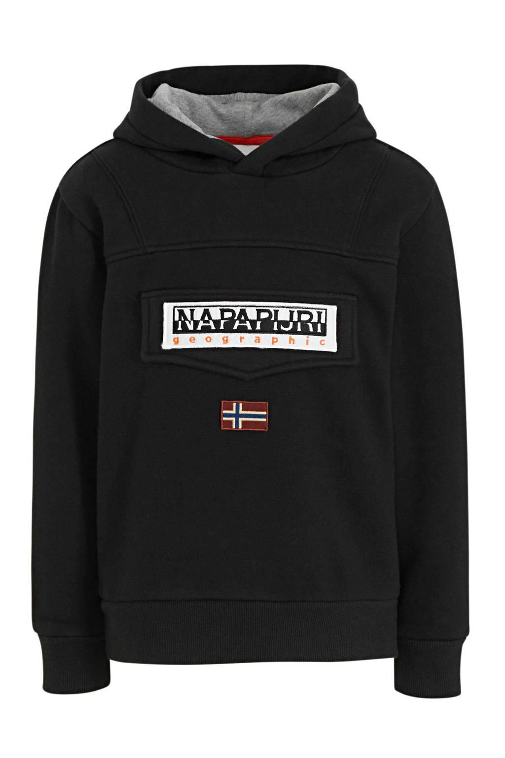 Napapijri hoodie Burgee zwart, Zwart