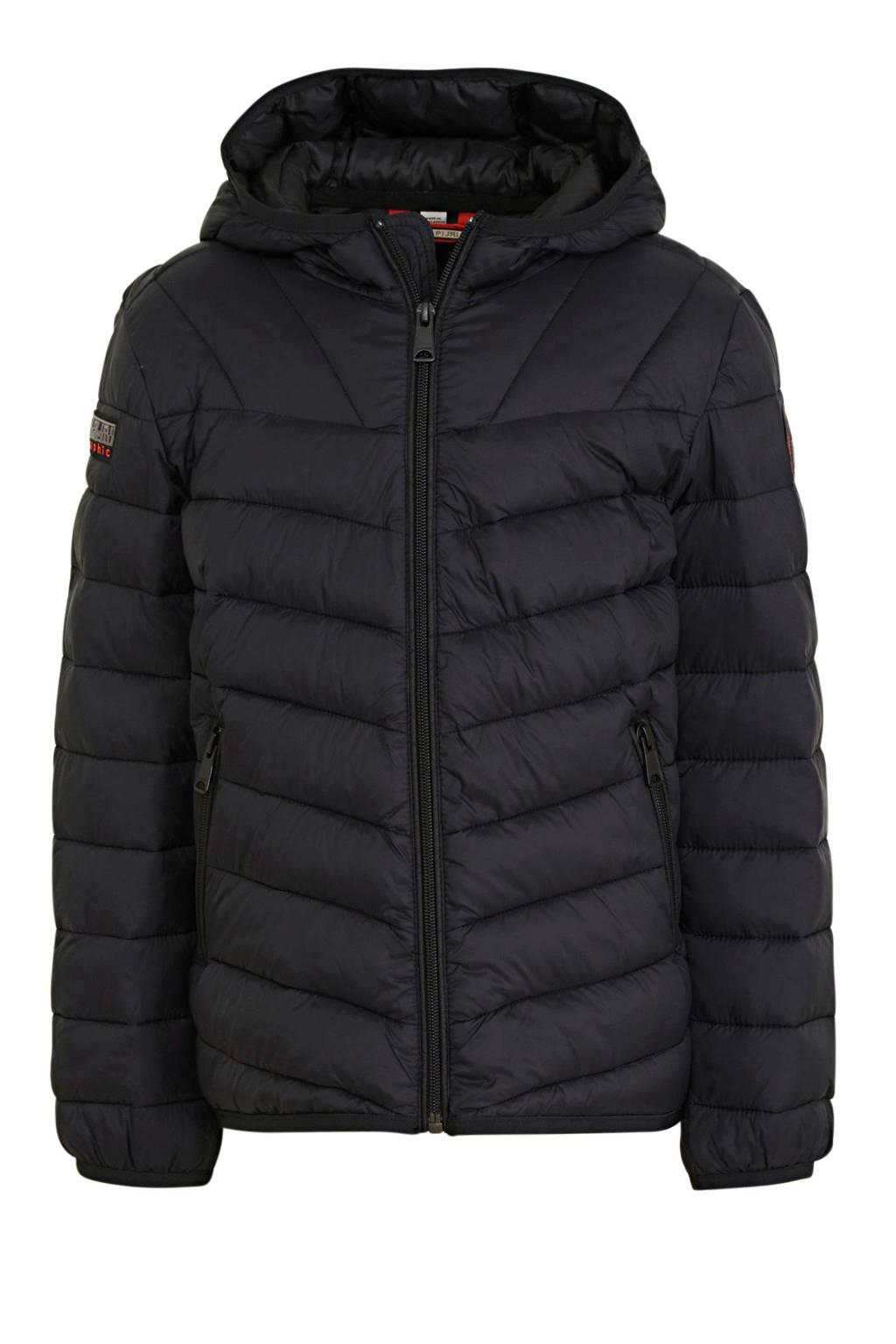 Napapijri gewatteerde winterjas Aerons zwart, Zwart