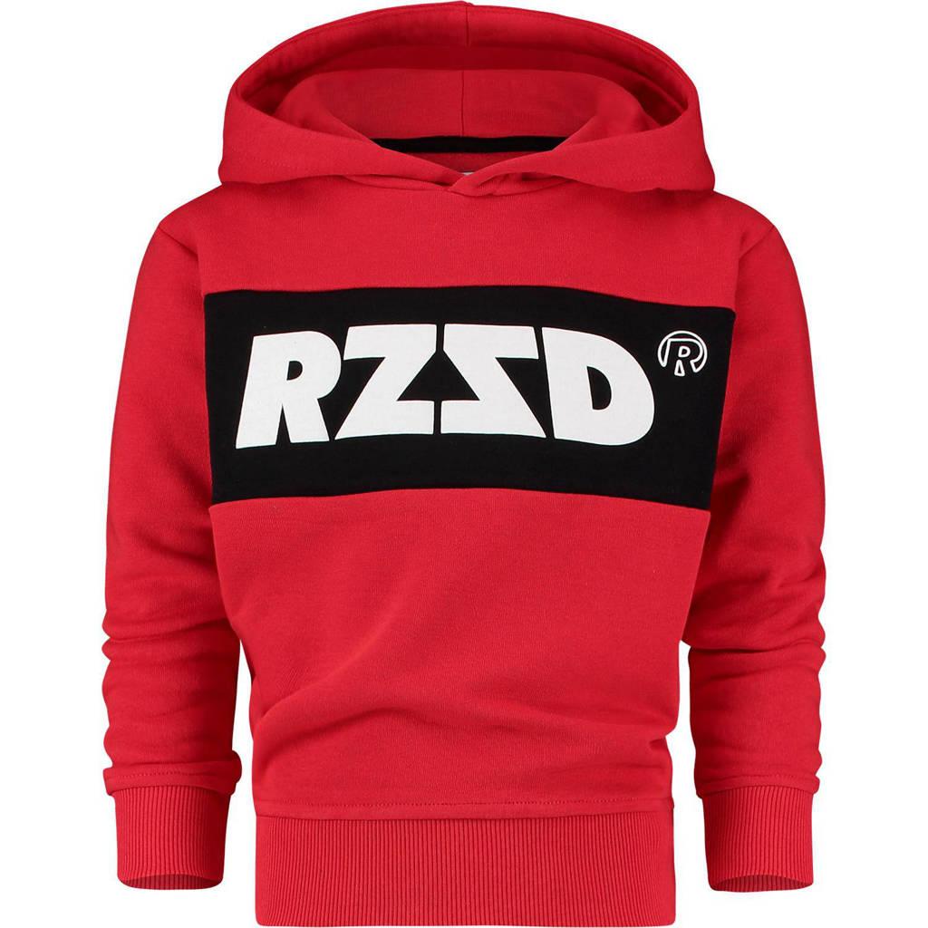 Raizzed hoodie Riga met logo rood/zwart/wit, Rood/zwart/wit