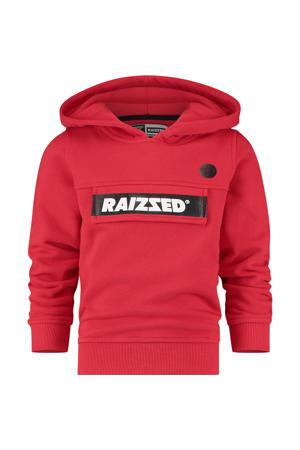 hoodie Norwich met logo rood/zwart