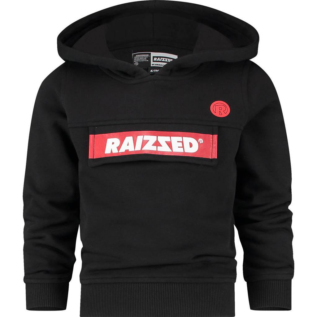 Raizzed hoodie Norwich met logo zwart/rood, Zwart/rood