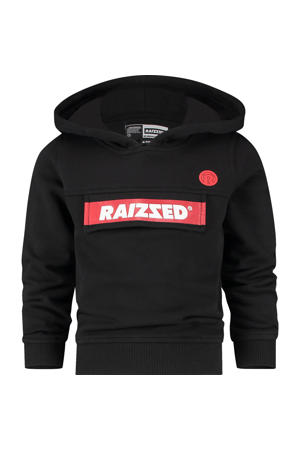 hoodie Norwich met logo zwart/rood