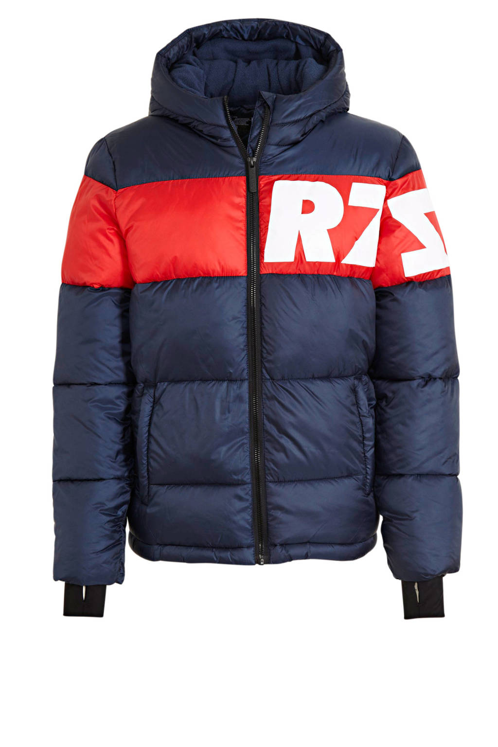 Raizzed gewatteerde winterjas Tacoma donkerblauw/rood, Donkerblauw/rood