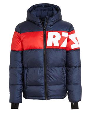 gewatteerde winterjas Tacoma donkerblauw/rood