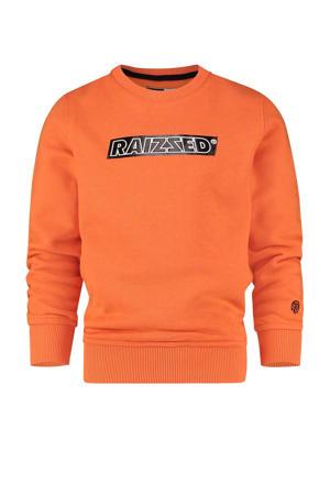 sweater Numan met logo oranje
