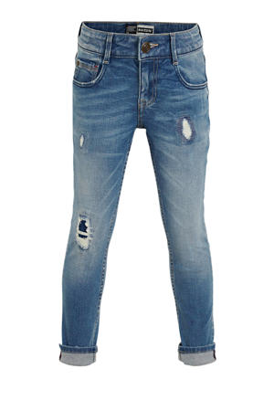 slim fit jog denim Boston mid blue stone