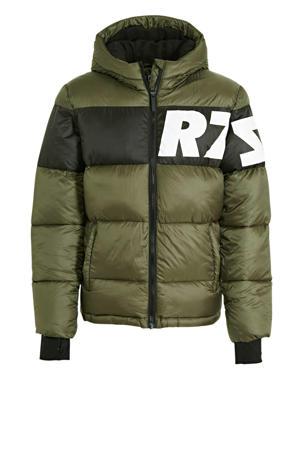 gewatteerde winterjas Tacoma groen/zwart