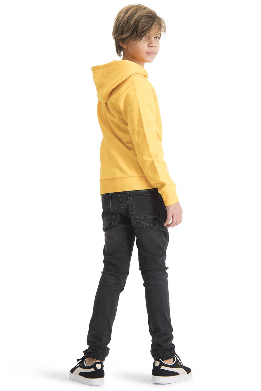 Raizzed hoodie New York met logo mosterd geel/grijs, Mosterd geel/grijs