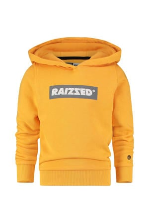 hoodie New York met logo mosterd geel/grijs