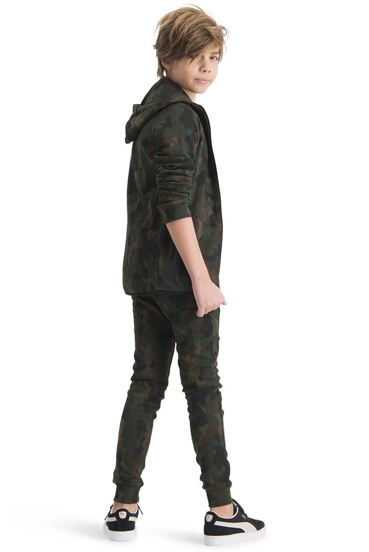 Raizzed vest Ottowa met camouflageprint donkergroen/groen, Donkergroen/groen