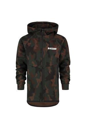 vest Ottowa met camouflageprint donkergroen/groen