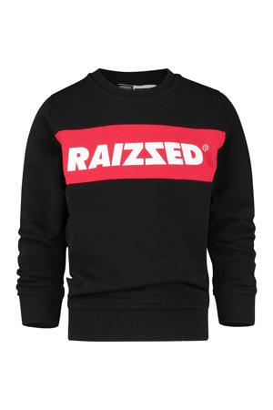 sweater Novato met logo zwart