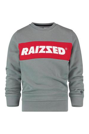 sweater Novato met logo grijs melange