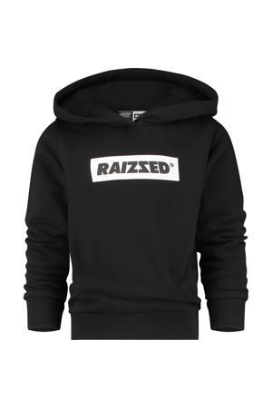 hoodie New York met logo zwart/wit