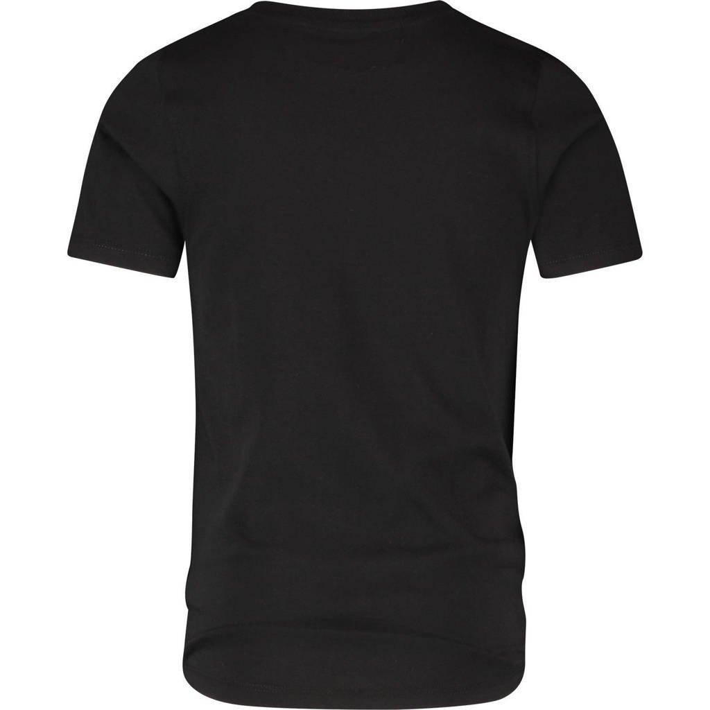 Raizzed T-shirt Hamburg met logo zwart, Zwart