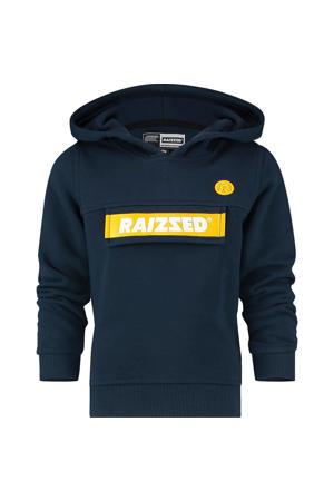 hoodie Norwich met logo donkerblauw/geel