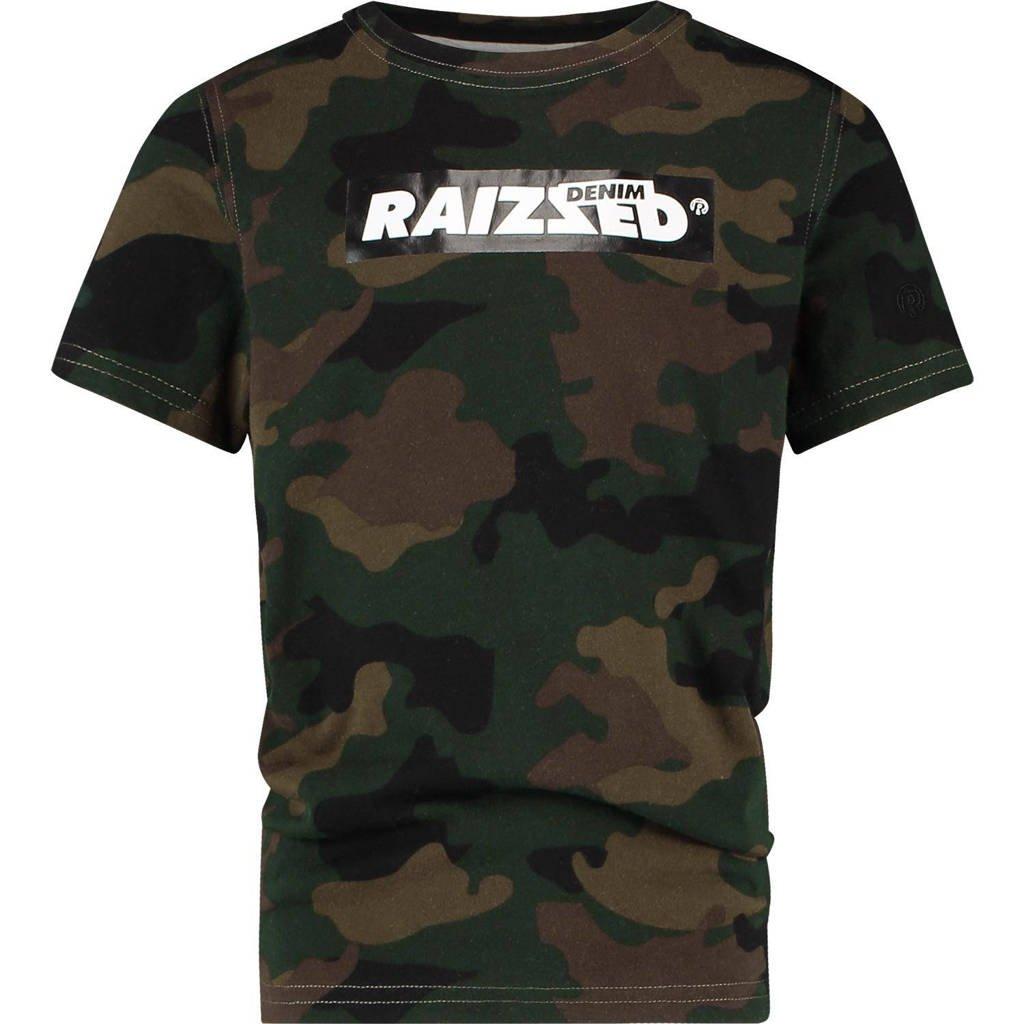 Raizzed T-shirt Hanno met camouflageprint donkergroen/groen, Donkergroen/groen