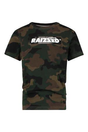 T-shirt Hanno met camouflageprint donkergroen/groen
