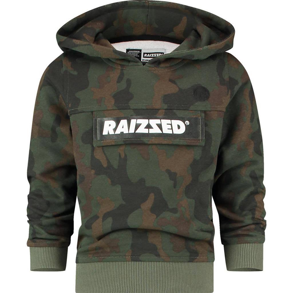 Raizzed hoodie Norwich met camouflageprint groen/donkergroen, Groen/donkergroen