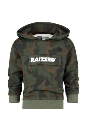 hoodie Norwich met camouflageprint groen/donkergroen