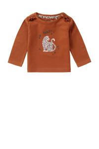 Noppies baby longsleeve Roedtan met biologisch katoen roestoranje, Roestoranje